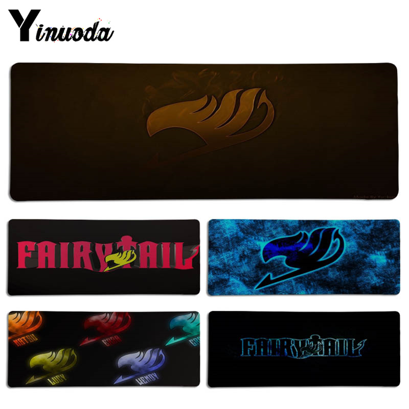 Yinuoda High Quality Fairy Tail logo mouse pad gamer play mats Size for 300*700*2mm and 300*900*2mm Game Mousepad