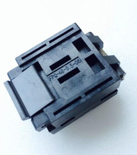 ФОТО IC Test bench QFP48 Burning seat  FPQ-48-0.5-06 Empty sockets 1pcs/lot   NEW original - FREESHIPPING