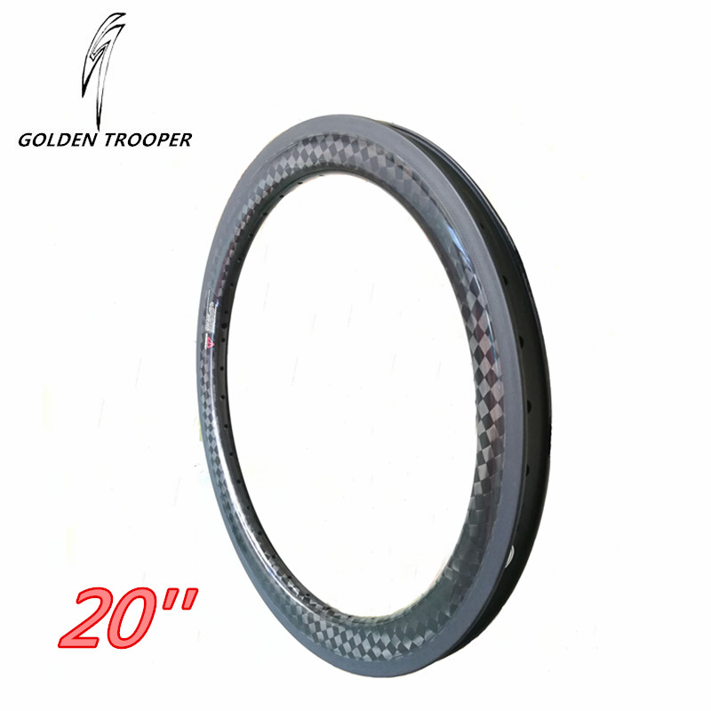 BMX Carbon Wheels 20 Inch UD 3K 12K Glossy Matt Surface Basalt Brake 20 24 28