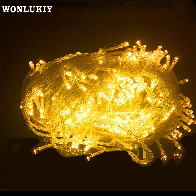 Led String Objective Wonlukiy Dc12v Led Waterproof Copper Silver Wire 5m 10m Fairy String Light For Xmas Holiday Wedding Party Home Decoration 100% High Quality Materials
