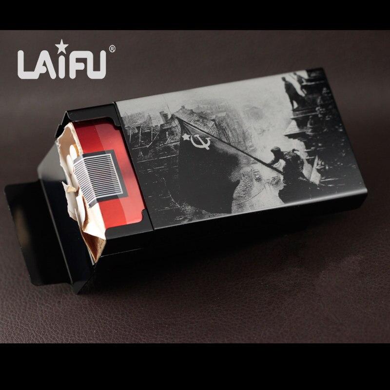 Haute qualité mâle étui à cigarettes en métal en alliage d'aluminium cigarette boîtes guerre mondiale 2 series Capture Berlin laser conçu pour toujours
