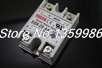 10pcs Solid State Relay SSR-25 AA AC-AC 25A/250V 80-250VAC/24-380VAC original 3 phase ac solid state relay ssr 15a 80 250vac normally open electronic switch