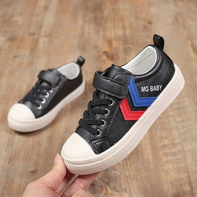 4c2927eb76 017 nueva ola de zapatos para niños Pequeños zapatos blancos versión Coreana  de los grandes deportes