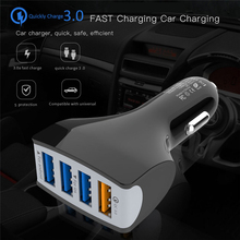 цена на Universal Car-Charger Quick Charge QC 3.0 Truck Car Charger 4 USB Port Fast Rapid Charging Adapter for iPhone X 7 Xiaomi Huawei