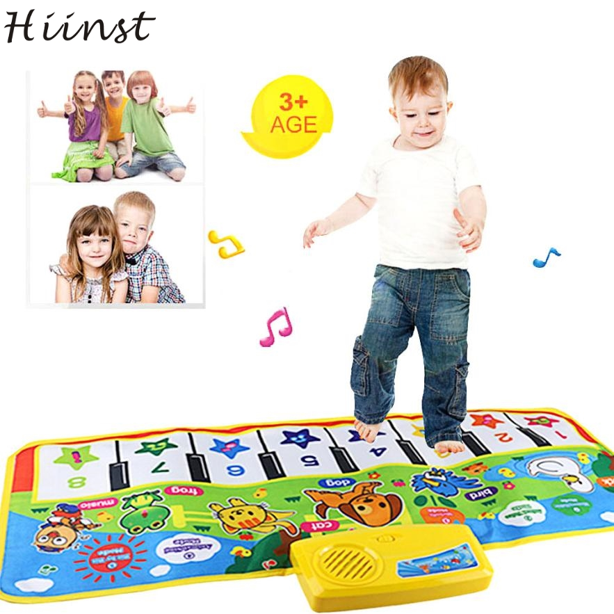 HIINST Modern Play Mat Musical New Touch Play Keyboard Musical Music Singing Gym Carpet Mat Best Kids Baby Gift H26