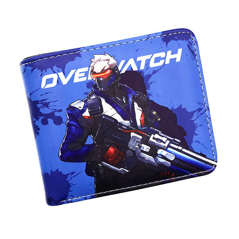 HOT Overwatch Wallet 23 Heroes of OW SOLDIER 76/REAPRE/MCCREE/D.VA/HANZO/MERCY/MEI Short Wallet With Coin Pocket Card Holder цена