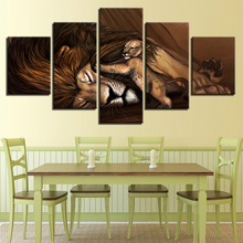 Canvas HD Prints Poster Home Decor Wall Art Anime Animal Pictures 5 Pieces Cartoon Comic Lions Paintings Living Room Framewor