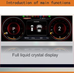 Image 4 - لوحة أجهزة Panlelo لوحة استبدال لوحة القيادة 12.3 بوصة الملاح مع أداة الكريستال السائل الكامل لتويوتا برادو SWC