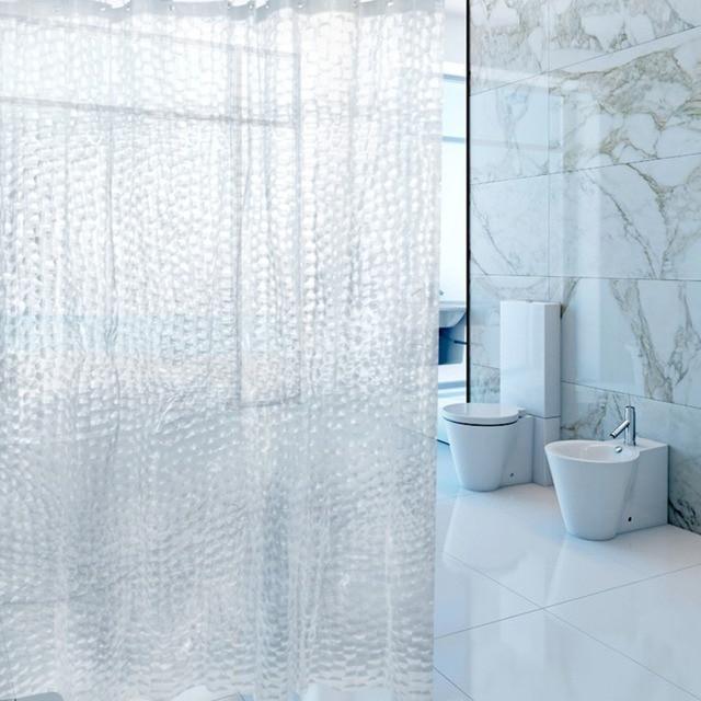 moderne duschvorhang wasserdicht mildewproof polyester stoff badvorhang bad produkt wei transparent muster dusche - Stoff Vorhang Dusche