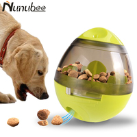 Nunubee Funny Tumbler Leakage Food Ball Dog Toy Natural Non Toxic Puzzle Pet Toys Interactive IQ Treat Ball