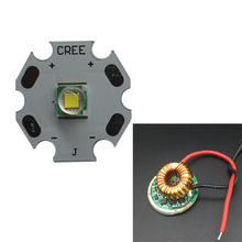 CREE XML LED XM-L T6 U2 10W WHITE 6000-6500K  LED Emitter chip 20MM Cooper PCB+Input 12V LED 5Mode driver 10pcs lot cree xlamp xml u2 10w led emitter cold white 6000k 6500k with 20mm star base for led flashlight