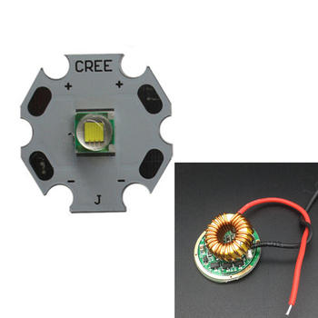 CREE XML LED XM-L T6 U2 10W WHITE 6000-6500K  LED Emitter chip 20MM Cooper PCB+Input 12V LED 5Mode driver 1 mode 3mode 5mode constant current 2800ma dc 12v xml t6 led driver for cree xml xm l2 t6 lightingtransformers driver