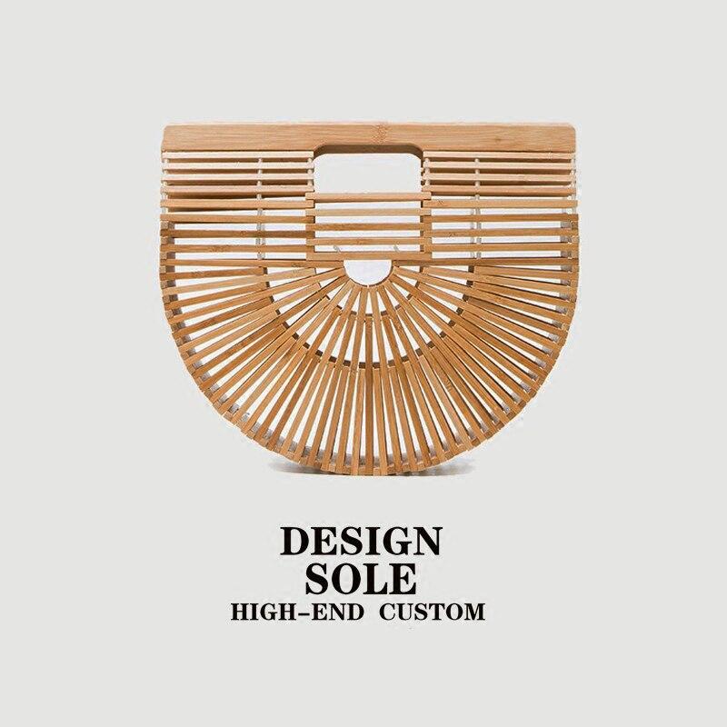 2018 Ins Hot Sale It Bag American Popular Brand Design Women Handbag Handmade Baboo Woven Lady Basket Wood Totes Trendy Bag hot sale fashion hot sale coconut palm iron wall hanging basket