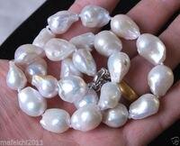 12 16 мм Натуральное белое жемчужное ожерелье Reborn барочные жемчужные украшения ожерелье 18
