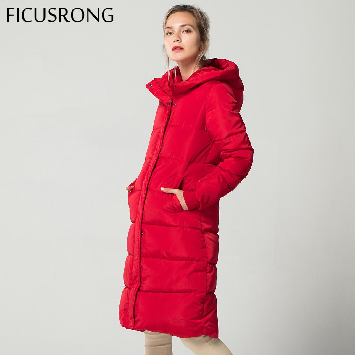 Fashion Winter Jacket Women Thick Warm Female Down Jacket Cotton Coat Down Parkas Long Women Hooded