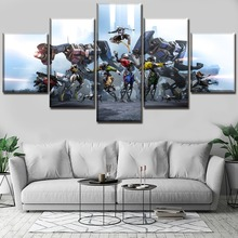 цена Robo Recall Game Painting Wall Art Canvas Modern Decor 5 Pieces Print Poster HD Print Canvas Printed Living Room Artwork онлайн в 2017 году