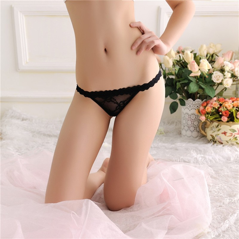 Black Cheeky Panties With Pink Lace Floral Sexy Size Small S Cheek Panty Butt