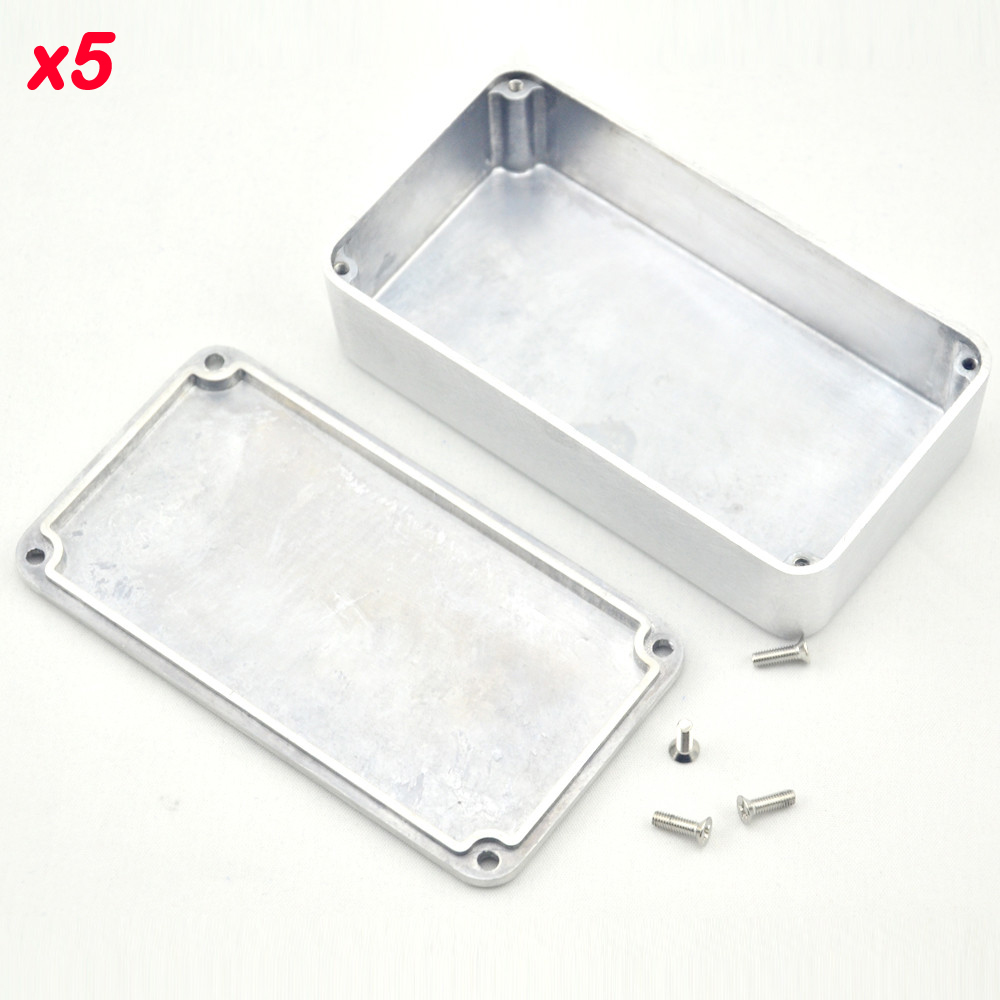 5PCS/Lot 1590B/ Style Guitar Effects Pedal Aluminum Stomp Box Enclosure for  DIY Guitar Pedal Kit