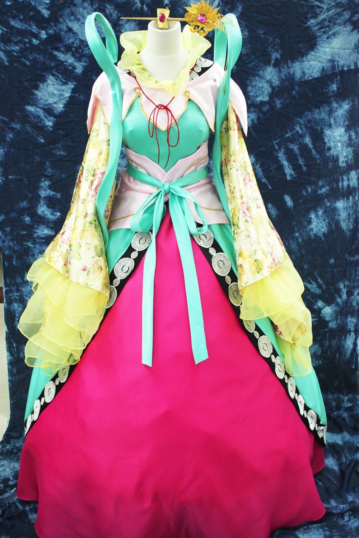 Anime Cosplay MAGI Kougyoku Ren cos Traditional Clothing Princess Cosplay Costume