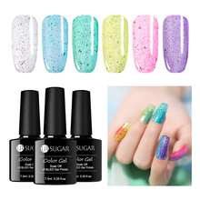 UR SUGAR 7.5ml Holographic Jelly Series Gel Nail Polish Purple Blue Colors Shining Glitter Nails Soak Off UV Varnish