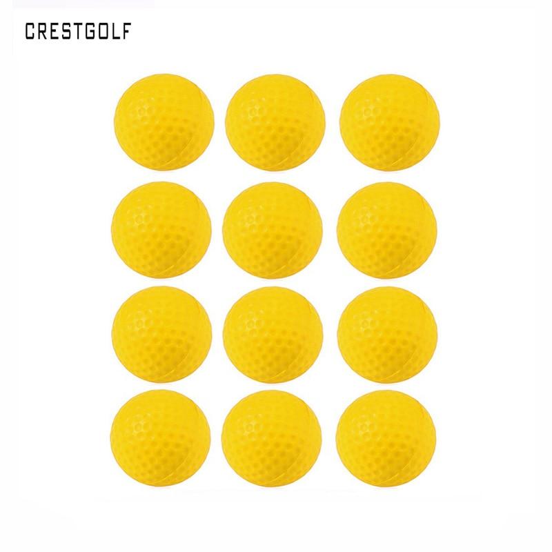 CRESTGOLF 50pcs/100pcs/200pcs Foam Sponge Golf Practice Balls  Indoor &Outdoor Practice Balls