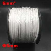 1roll 6mm2 PVC 5mm ID White Handwriting Ferrule Printing Machine Number Plum Tube Wire Sleeve Blank Cable Marker