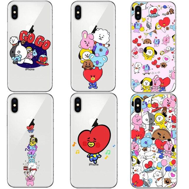 0f0d5359e0f Cartoon Stars KPOP BTS Signature Case For iphone X 10 8 8Plus 7 6 6S Plus  5S SE Cover Love Yourself Bangtan BT21 Hard PC Cover