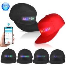 Светодиодный головной убор для вечерние Bluetooth светодиодный программируемый экран с прокручивающимся сообщением бейсбольная кепка для самостоятельного монтажа Прямая поставка