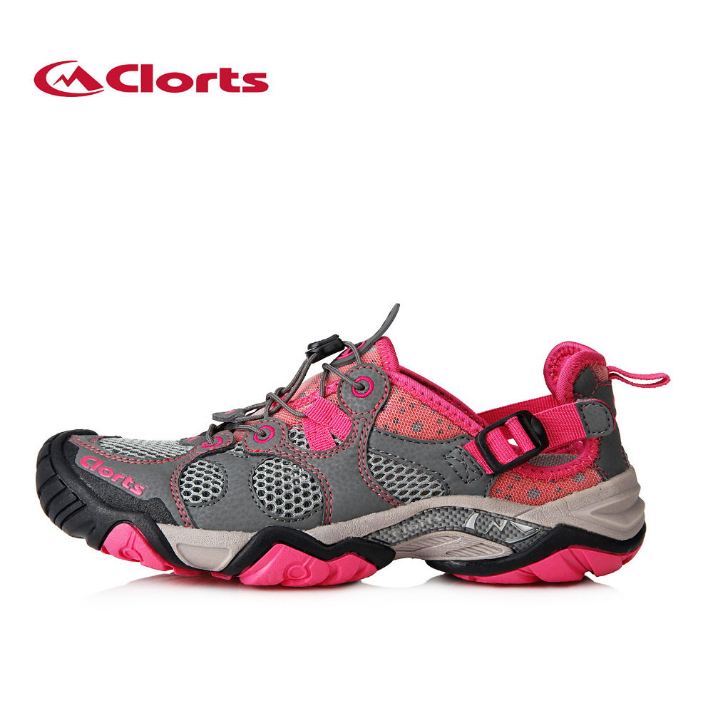 ФОТО Clorts Women Latest Outdoor Aqua Shoes Mesh Quik-Dry Wading Shoes Upstream Shoes Breathable Shoes 3H021C