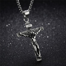 Christian Jewelry Crucifix Jesus Pendant Necklace