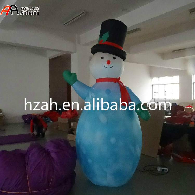 Lighting Inflatable Shiny Snowman for Christmas Decoration