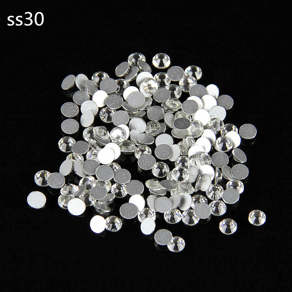 New Arrival 288pcs/bag SS30 Clear Rhinestone Non Hotfix Sew On Rhinestones rhinestone buttons Flat Back Gems DIY