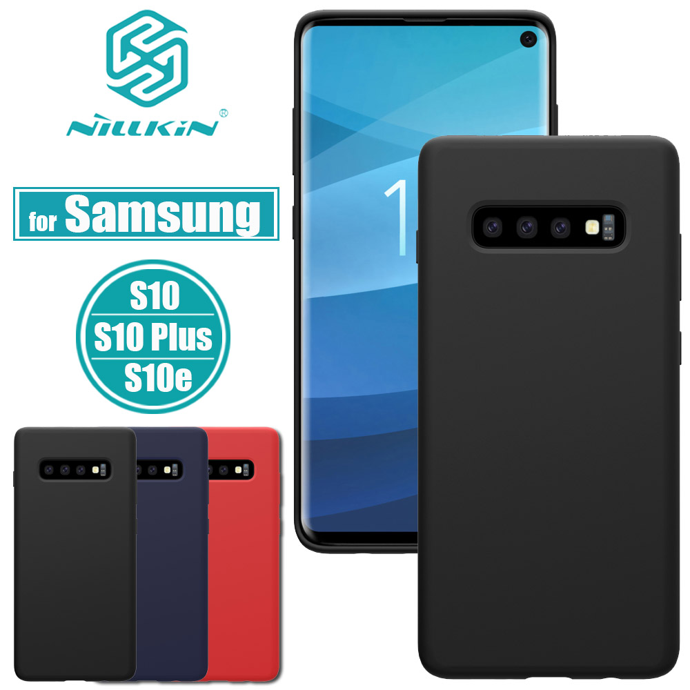 NILLKIN Flex Pure Case for Samsung Galaxy S10 Plus Slim Soft Liquid Silicone Rubber Shockproof Phone Cover for Samsung S10e CapaNILLKIN Flex Pure Case for Samsung Galaxy S10 Plus Slim Soft Liquid Silicone Rubber Shockproof Phone Cover for Samsung S10e Capa