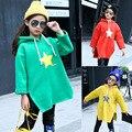 Los niños Ropa de Invierno Para Niñas Nuevo 2016 de Diseño de Moda mangas largas de Algodón Hoodies de Los Cabritos Casual Warm Girls Jerseys Outwear