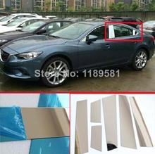For Mazda 6 M6 Atenza 2014 2015 2016 Stainless Steel pillar post trim