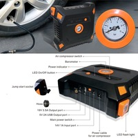 12V 82800mAh Portable Car Jump Starter With Built In Air Compressor USB Output Battery Power Bank