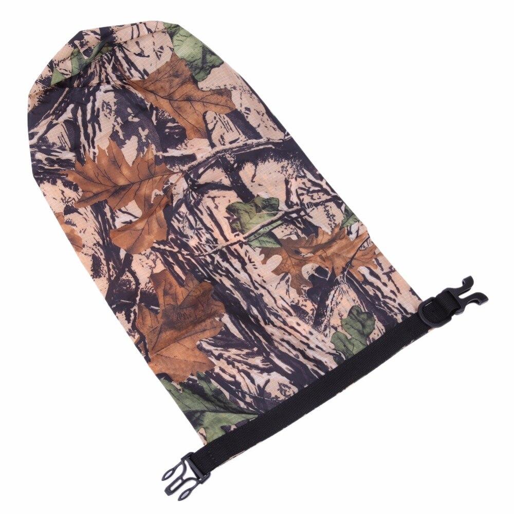 Portable 8L Camouflage Waterproof Bag Storage Dry Bag for Swimming Outdoor Camping Hike Canoe Kayak Rafting