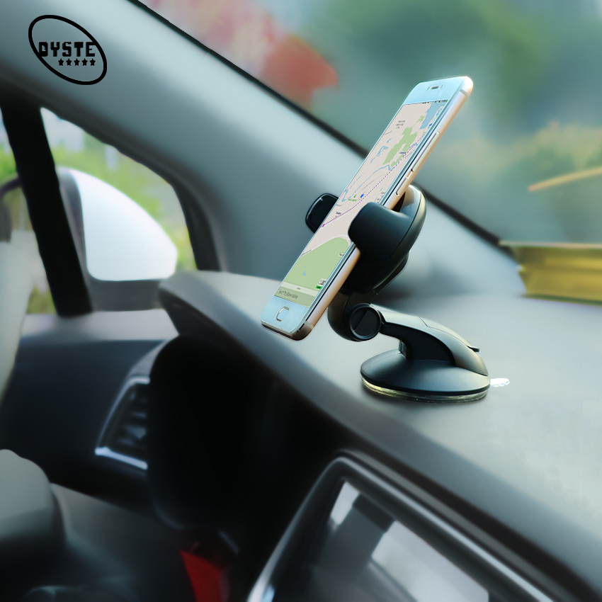 Phone Holder For Car Suction Cup Socket Smartphone Auto Phone Holder Stand GPS Support Smartphone Voiture Phone Grip 360Rotation