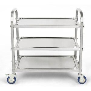Image 2 - Carlito cocino chariot de cuisine à 3 niveaux, chariot de cuisine, Restaurant, grand de traiteur en acier inoxydable, HWC
