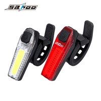 SAHOO Bicycle Back Light COB LED Cycling Rear Light USB Charger Bike Tail Lamp Waterproof Bicycle