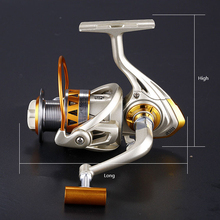 special aluminum body fishing roll bearing 14 1bb high speed reel rotating fishing wheel reel free shipping sale Metal Rotary Spinning Reel 12+1BB Bearing Ratio 5.2:1 outdoor Fishing Bait Casting Fishing Wheel Free Shipping sale