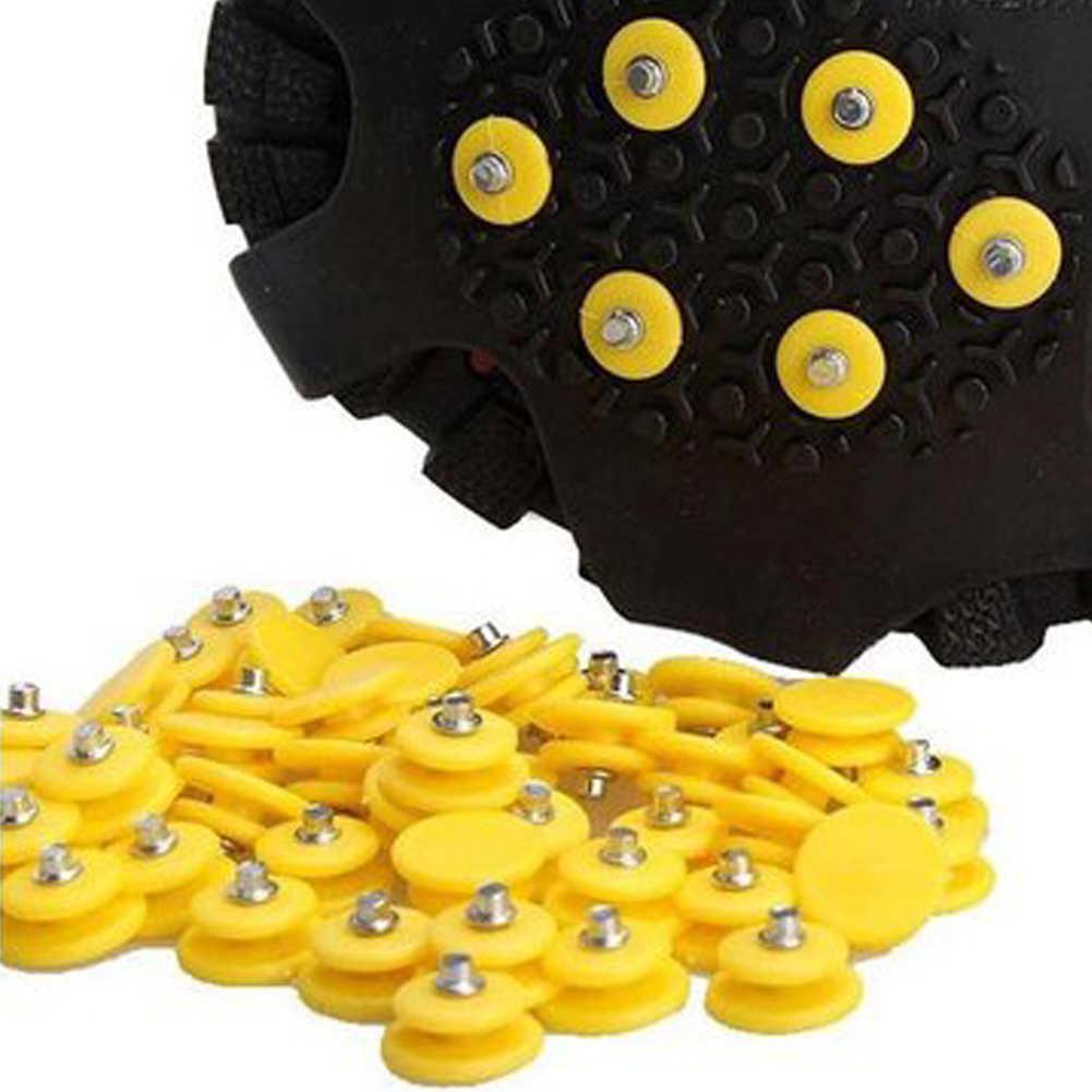10x Anti Kayma Ayakkabı Sivri Krampon metal çiviler Açık Kış Ayak Tutmak