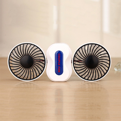 Creative Double-vane Air Conditioner Fan Mini Fan USB Rechargeable Portable Double Motors For Office Home Computer PC Fan