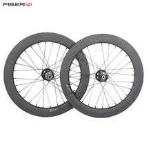 "20"" 451 Carbon Wheelsets  folding bicycle Wheels with Novatec Hubs Disc Brake"