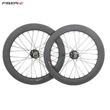 """20 """"451 karbon wheelsetler katlanır bisiklet tekerlekleri Novatec hub ile disk fren"""