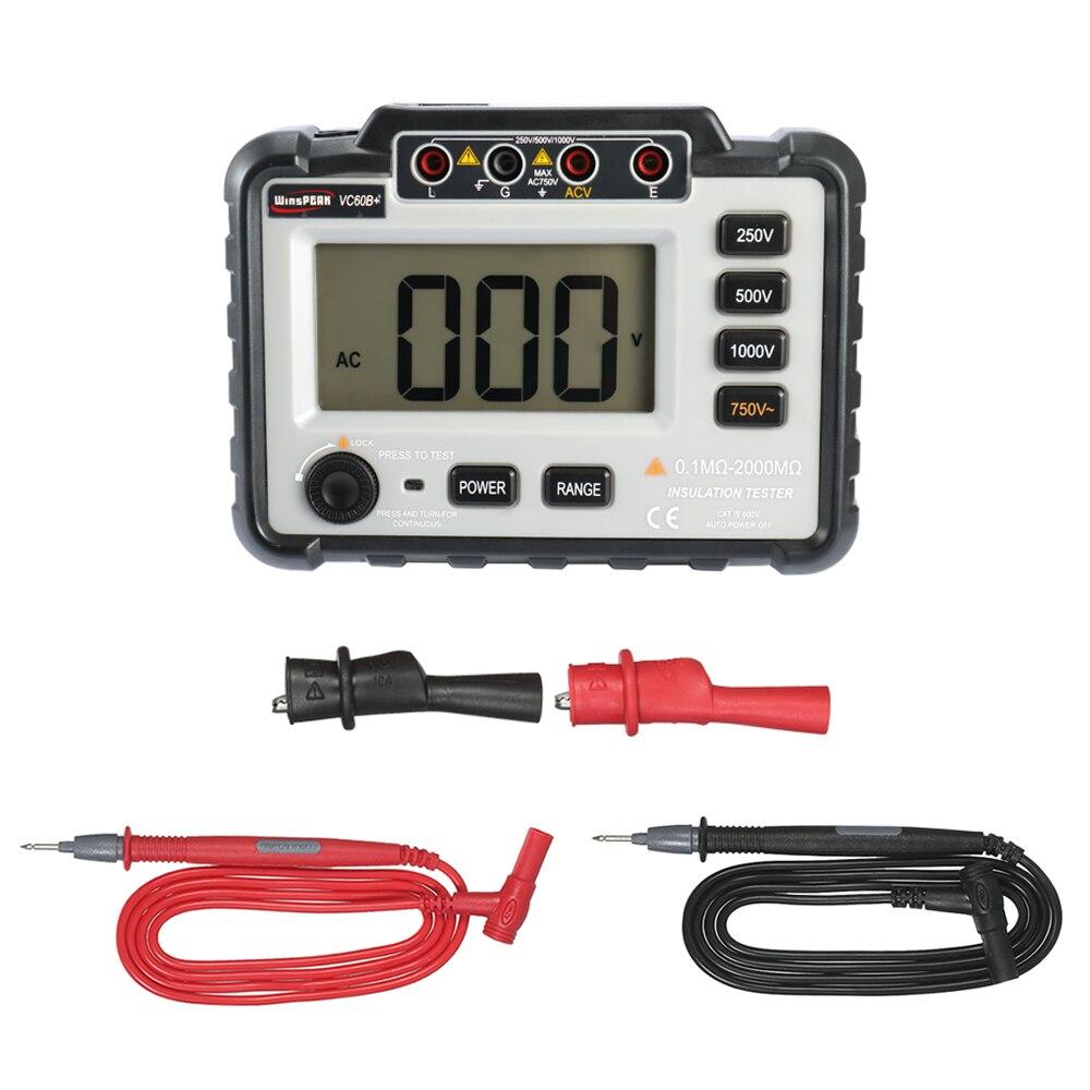 Testeur de résistance à l'isolation faible perte rapport élevé compteur d'isolation ohmmètre changer la tension 12 V en tension cc 250 V/500 V/1000 V