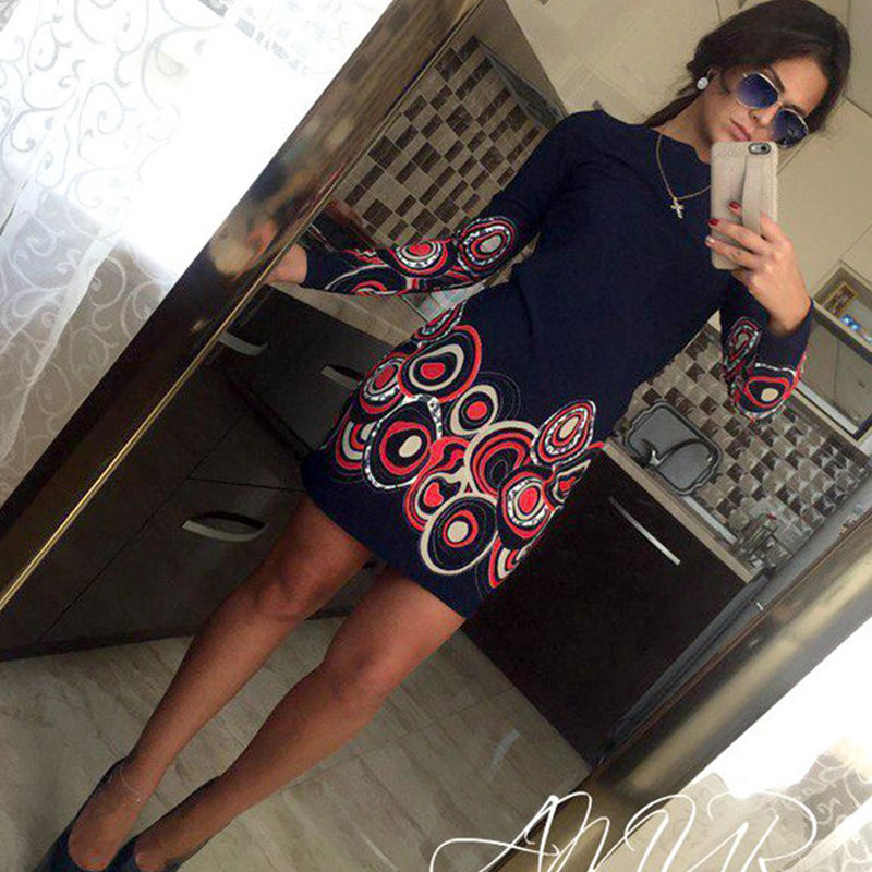 Women Summer Worlde Long Sleeve Lace Evening Party Short Mini Dress