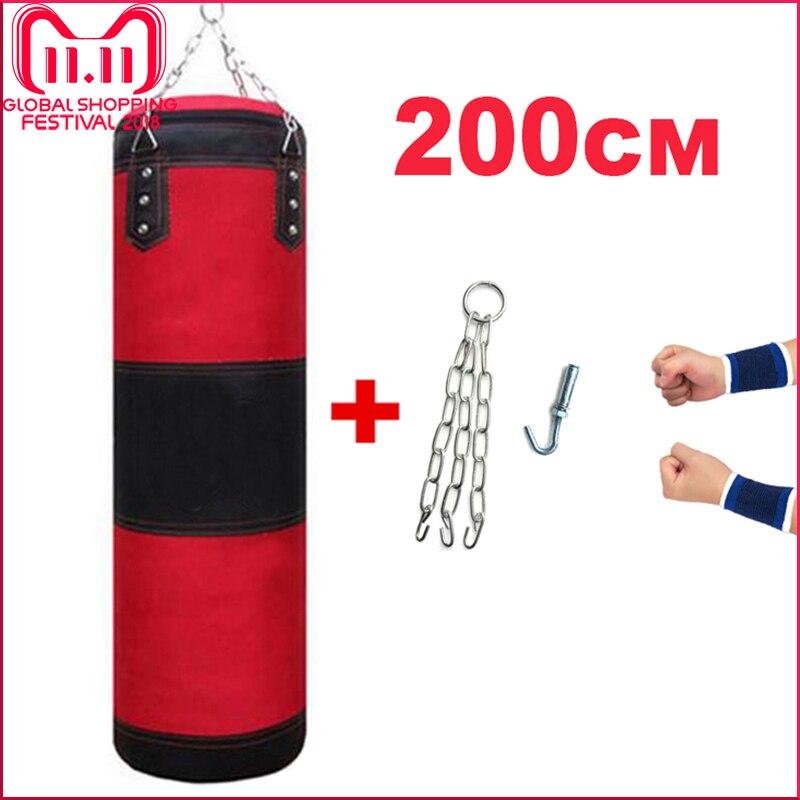 60/80/100/120/150/200 cm Sacchi Di Sabbia Ispessito Tela di Forare Sacchetto di Sport di Formazione di Vuoto sacchi da boxe Muay Thai