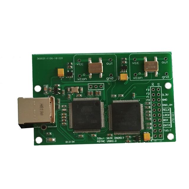 Mise à niveau Cristal Italie Amanero USB IIS Numérique Interface Prend En Charge DSD512 32bits/384khz Pour AK4497 ES9038 CAD Conseil