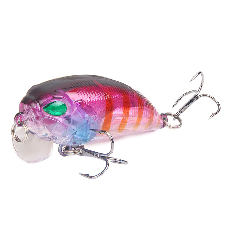 5Pcs lot 50mm 8 1g Fishing Lures 3D Eyes Colorful Minnow Crankbait For Sea River Fishing Tackle Pesca Jigging Hard Bait in Fishing Lures from Sports Entertainment